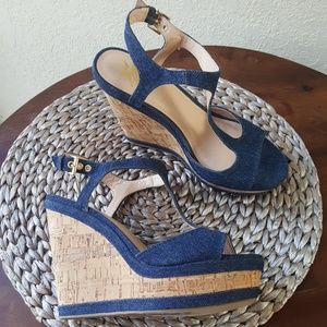 820aeb68e Lust for life. Lust for life denim wedge sandals size 8 ...